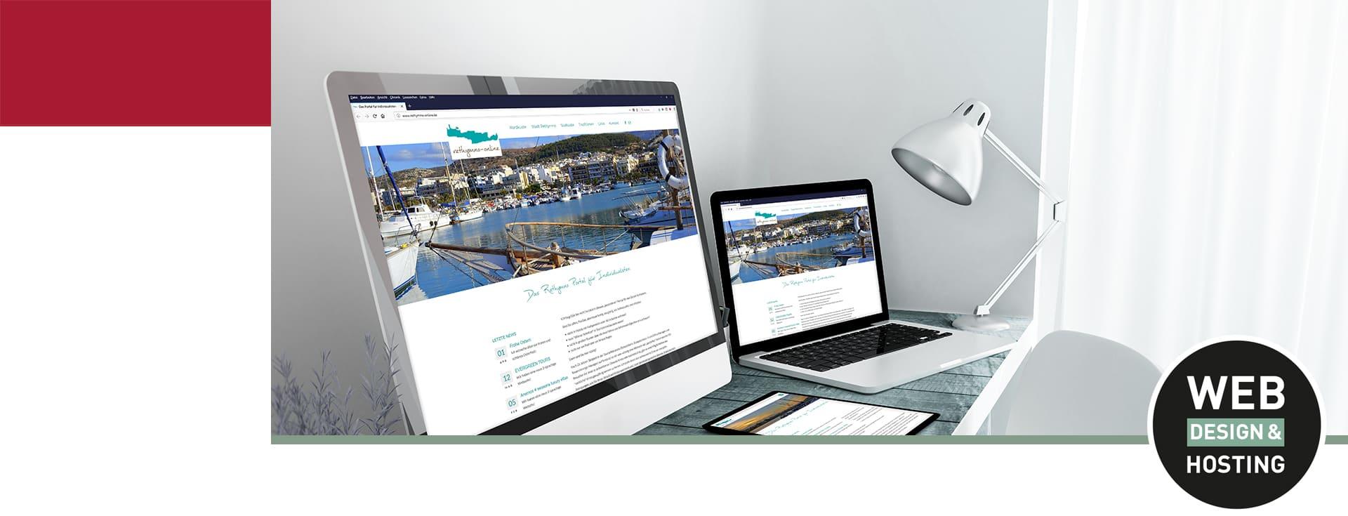 Mobiles Design für Website erstellen aof Laptop Webdesign Hannover