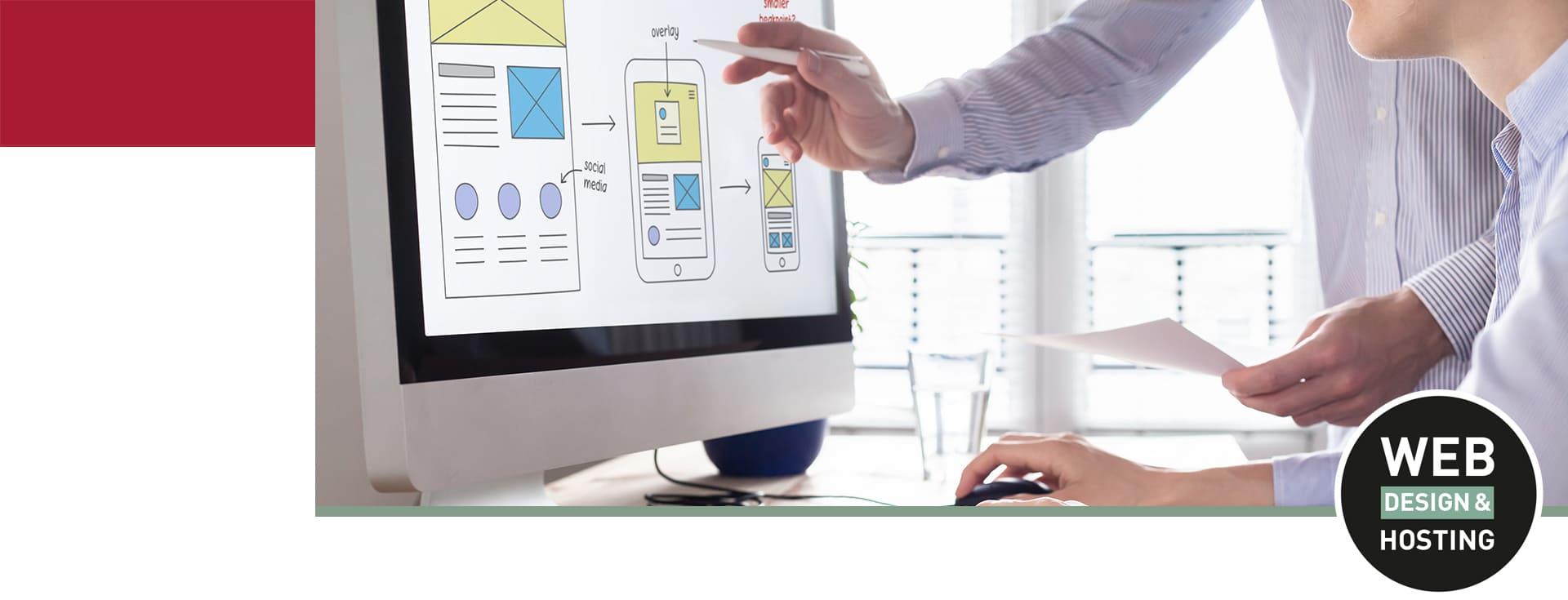 Am Bildschirm Homepage planen und erstellen für Smartphone Webdesign Osnabrück